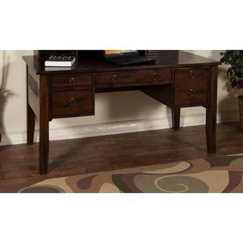 Sunny Designs 2962DC-H Santa Fe Desk Hutch In Dark Chocolate
