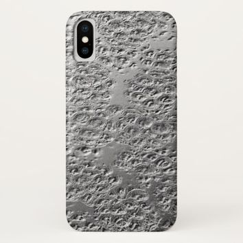 Damaged silver Case-Mate iPhone case