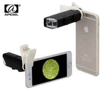 Universal Clip LED Microscope 60X - 100X  Zoom Magnifier Micro Mobile Phone Camera Lens For iPhone 6 5S Samsung S5 Note 4 Xiaomi