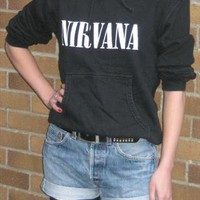 90's Grunge Nirvana Hooded Jumper from HaHohVintage