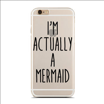 I'm Actually A Mermaid - Slim & Transparent case for iPhone - by HeartOnMyFingers - SLIMCASE-222