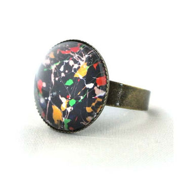 "10% SALE - Ring ""3"" Cooperated with the Featured Artist Ashley Cella. Copper Cute Circle Shape Good for gift"