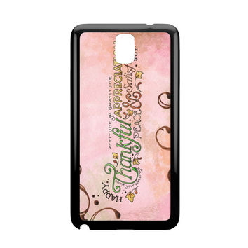 Happy Thankful Appreciaton Samsung Galaxy Note 3 Case