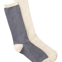 Tipped Crew Socks - Pack of 2