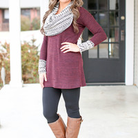 Date Night Sweater Tunic - Maroon