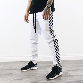 Brantley Checkered Pants (White)