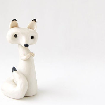 Arctic Fox in Winter White by Bonjour Poupette