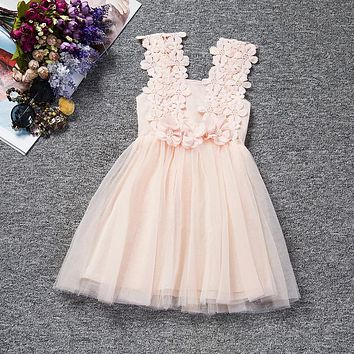 Toddler Girl Floral Dress Newborn Infant Ball Gown For 12 24 Months Little Baby School Costume Daily Clothing Summer Tutu Dress