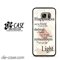 Harry Potter Happiness Quote DEAL-5110 Samsung Phonecase Cover For Samsung Galaxy S7 / S7 Edge