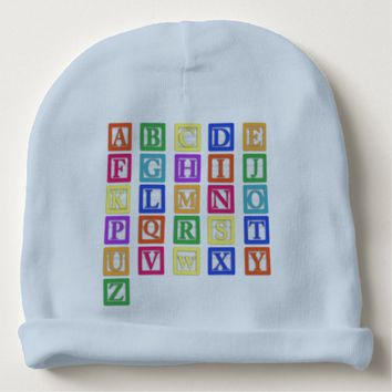 Block Letters Baby Beanie