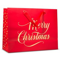 """Sugar Paper """"Merry Christmas"""" Red Vogue with Gol... : Target"""