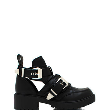 Cut-Out-Grunge-Boots BLACK - GoJane.com