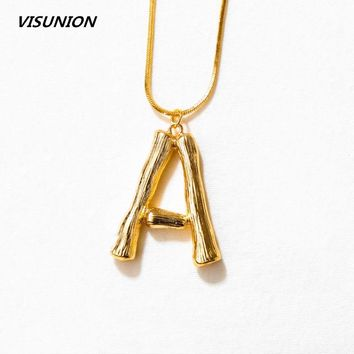 A-Z 26 Letters Necklace Personalized Pendant Monogram  Big Letters Script Name Initial  Alphabet Charm Necklace for Gift