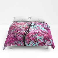 Autumn Pink Comforters by Lisa Argyropoulos
