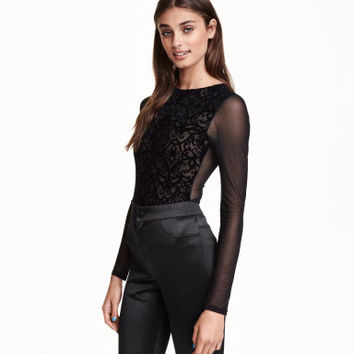 H&M Burnout-patterned Bodysuit $17.99