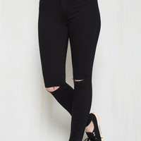In It To Spin It Pants in Black | Mod Retro Vintage Pants | ModCloth.com