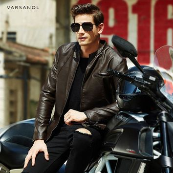 Men Autumn Leather Clothes Solid Bomber Jacket Male Casual Coats Clothing Zipper Pocket