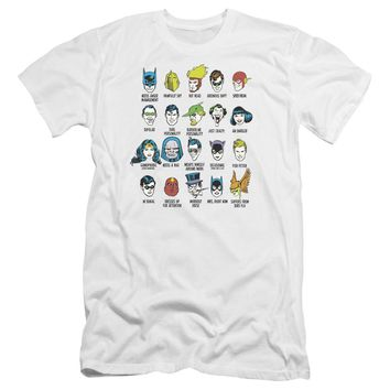 Dc - Superhero Issues Premium Canvas Adult Slim Fit 30/1 Shirt Officially Licensed T-Shirt