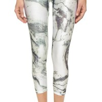 Marble Performance Capri Leggings