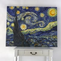 Handmade oil painting reproduction The Starry Night by Vincent van Gogh