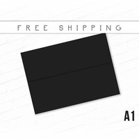 Black Envelopes Pack of 9 High Quality Envelopes A1 Size Deep Black Bulk Envelopes Invitation Birthday Announcement RSVP Card Free Shipping