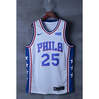 Philadelphia 76ers #25 Ben Simmons Nike Association Edition NBA Jerseys