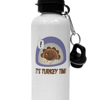 Escaping Turkey - Turkey Time Funny Aluminum 600ml Water Bottle