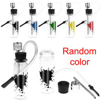 Mini Smoking Glass Water Pipe Clear Small Weed Tobacco Pipes Shisha Hookah Pipes For Smoking Accessories Random Colors