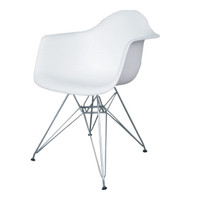 WireLeg Dining Arm Chair, White