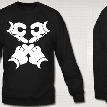 Ovoxo Hands Crew Neck Sweatshirt
