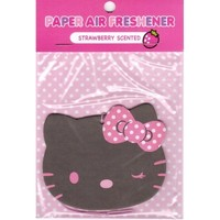 Sanrio Hello Kitty Paper Car Air Freshener : Strawberry Scented #13 $4.25