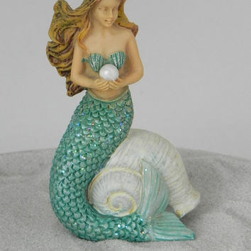 Fairy Garden Accessories Miniature Mermaid - terrarium supplies - fairy garden supply - miniature beach garden supply - cake topper