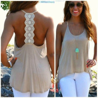 Women Summer  Sleeveless Halter Tank Tops