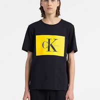 regular fit monogram logo block t-shirt | Calvin Klein