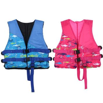 LONMF Child Life Vest Inflatable Professional Swimmer Swimming Life Jackets Water Sport Dedicated Life Saving Gilet for Kids Survival