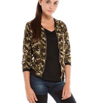 Chiffon Camouflage Flight Jacket