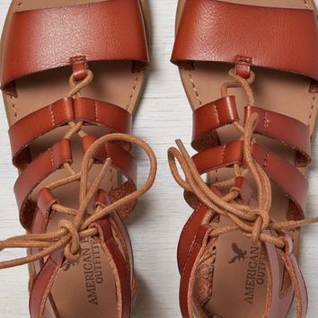 AEO Women's Lace-up Gladiator Sandal (Cognac)