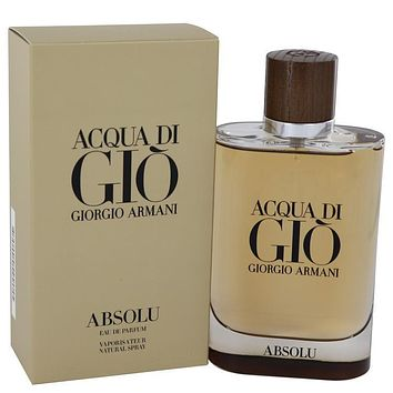 Acqua Di Gio Absolu by Giorgio Armani Eau De Parfum Spray 4.2 oz