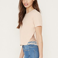 Floral Lace-Paneled Tee