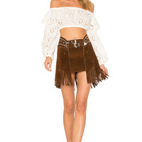 For Love & Lemons X REVOLVE Eyelet Top in White | REVOLVE