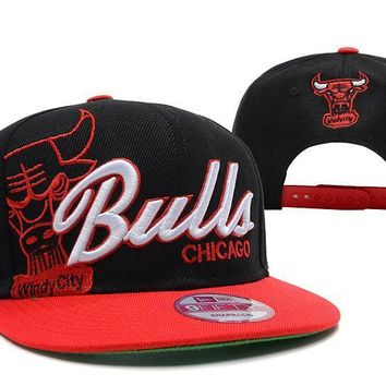 PEAPON Chicago Bulls NBA 9FIFTY Hat Windy City Patch Black-Red