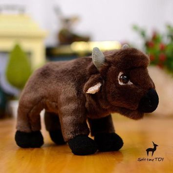 American Bison Stuffed Animal Plush Toy 8""