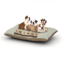 "Cristina Mitchell ""Be Awesome And Do Things"" Wooden Letters Dog Bed"