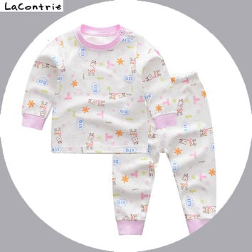 Safety Cosy Lacontrie 100% cotton Clothing for babies boy baby girl newborns Kids' things Clothes T-shirt + Pants