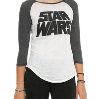 Star Wars Logo Girls Raglan