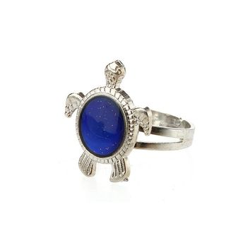 Turtle Shaped  Color Mood Ring
