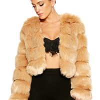 Want U Fur-Ever Cropped Jacket - Outerwear - Womens