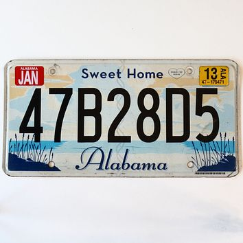 2013 Alabama Sweet Home License Plate 47B28D5