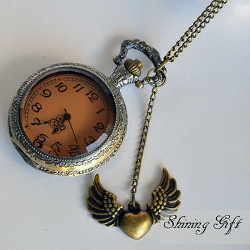 Steampunk Victoriana DARK SHADOW pocket watch by Shininggift