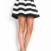 STRIPED BANDAGE SKIRT